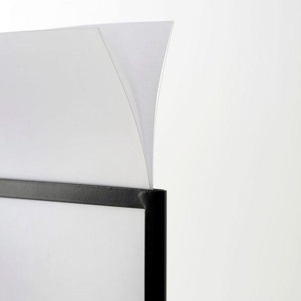 Floor-Sign-Holder-Black-Landscape-8.5x11-8
