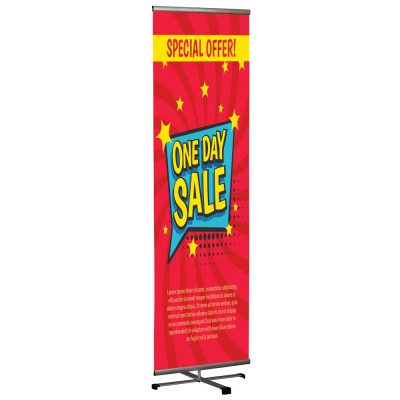 Cross Single banner adjustable height banner 23.5