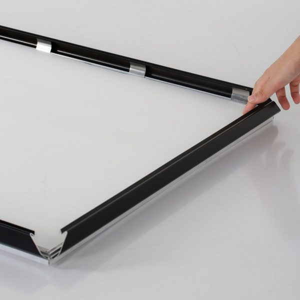 Portable 1.25 Snap Frame, mitred, 27x40, black, white backing, clear cover-15