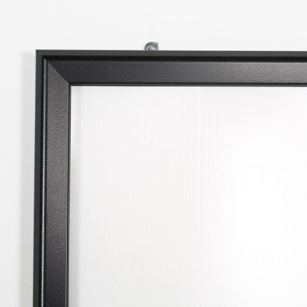 Portable 1.25 Snap Frame, mitred, 27x40, black, white backing, clear cover-27