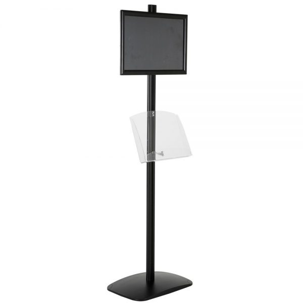 free-standing-stand-in-black-color-with-1-x-11X17-frame-in-portrait-and-landscape-and-1-2-x-8.5x11-clear-shelf-in-acrylic-single-sided-12