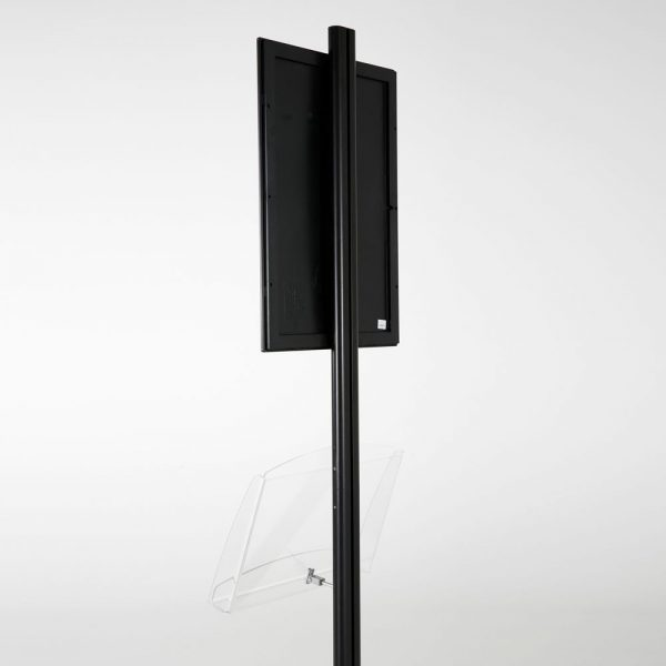 free-standing-stand-in-black-color-with-1-x-11X17-frame-in-portrait-and-landscape-and-1-2-x-8.5x11-clear-shelf-in-acrylic-single-sided-8