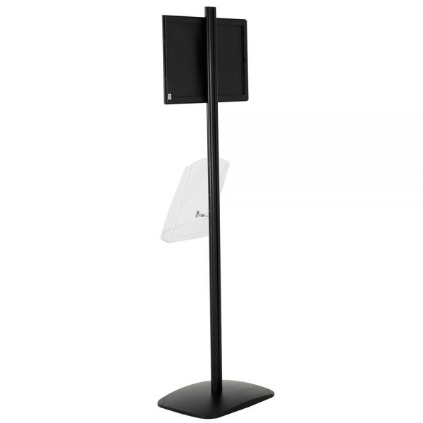 free-standing-stand-in-black-color-with-1-x-11X17-frame-in-portrait-and-landscape-and-1-x-8.5x11-clear-shelf-in-acrylic-single-sided-12