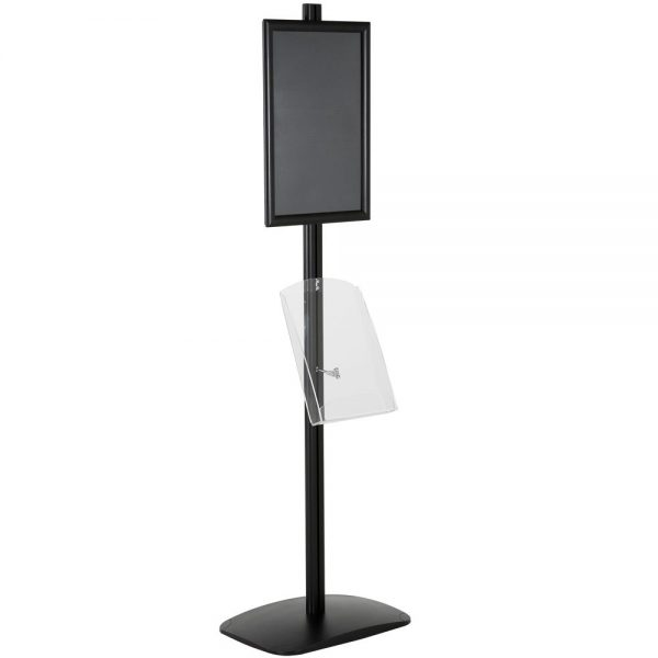 free-standing-stand-in-black-color-with-1-x-11X17-frame-in-portrait-and-landscape-and-1-x-8.5x11-clear-shelf-in-acrylic-single-sided-15