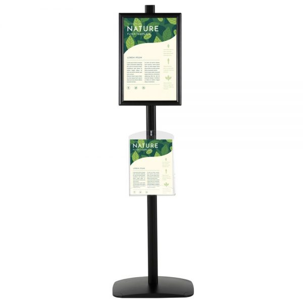 free-standing-stand-in-black-color-with-1-x-11X17-frame-in-portrait-and-landscape-and-1-x-8.5x11-clear-shelf-in-acrylic-single-sided-6