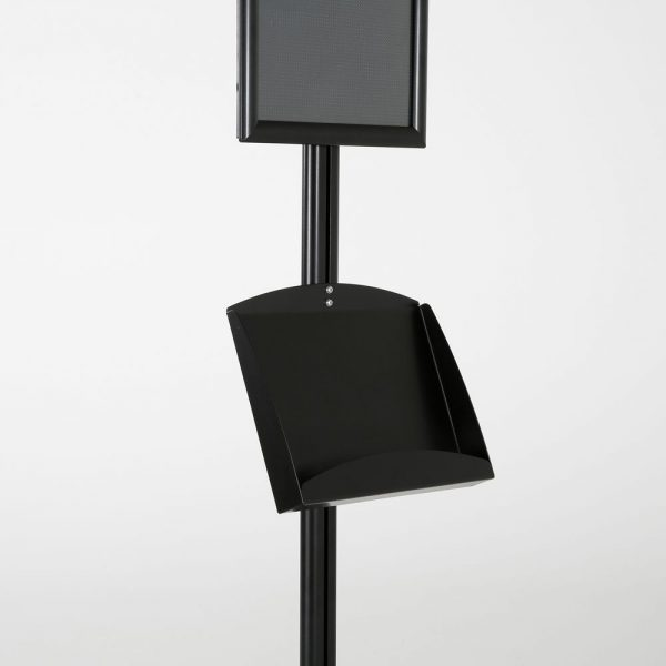 free-standing-stand-in-black-color-with-1-x-11X17-frame-in-portrait-and-landscape-and-2-x-5.5x8.5-clear-pocket-shelf-single-sided-12