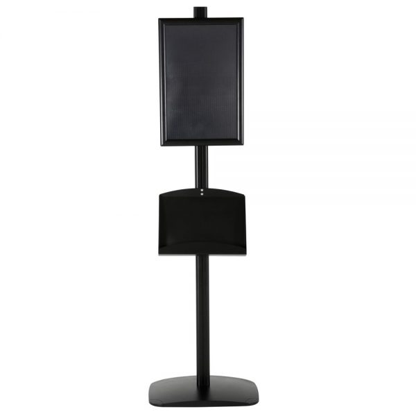 free-standing-stand-in-black-color-with-1-x-11X17-frame-in-portrait-and-landscape-and-2-x-5.5x8.5-clear-pocket-shelf-single-sided-14
