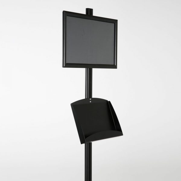 free-standing-stand-in-black-color-with-1-x-11X17-frame-in-portrait-and-landscape-and-2-x-5.5x8.5-clear-pocket-shelf-single-sided-7