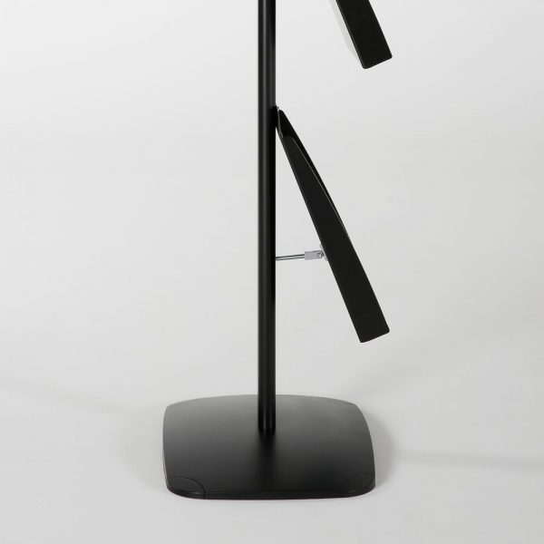free-standing-stand-in-black-color-with-1-x-11X17-frame-in-portrait-and-landscape-and-2-x-8.5x11-steel-shelf-single-sided-10
