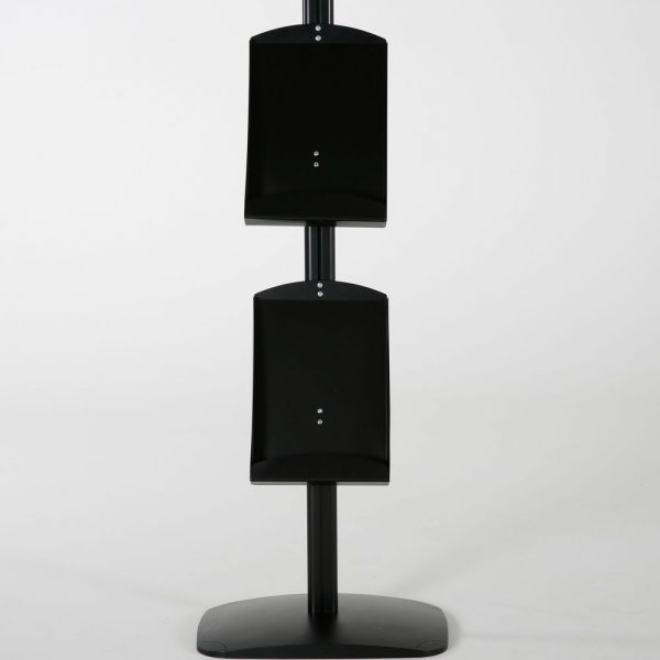 free-standing-stand-in-black-color-with-1-x-11X17-frame-in-portrait-and-landscape-and-2-x-8.5x11-steel-shelf-single-sided-11