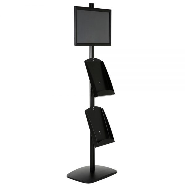 free-standing-stand-in-black-color-with-1-x-11X17-frame-in-portrait-and-landscape-and-2-x-8.5x11-steel-shelf-single-sided-13