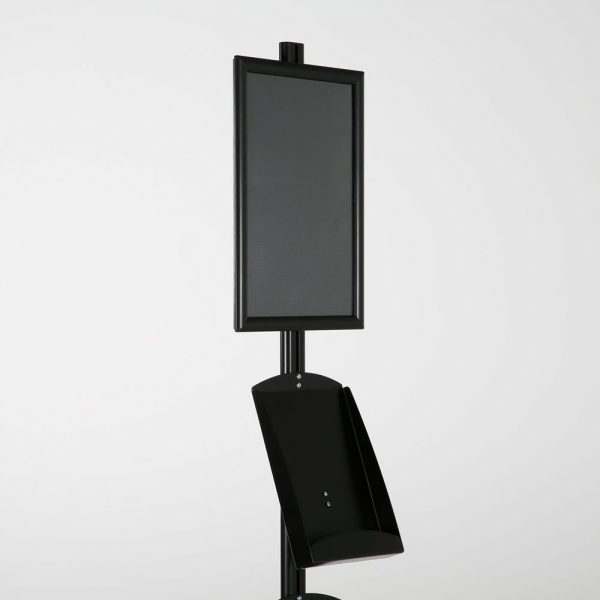 free-standing-stand-in-black-color-with-1-x-11X17-frame-in-portrait-and-landscape-and-2-x-8.5x11-steel-shelf-single-sided-7