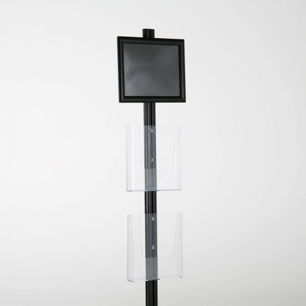 free-standing-stand-in-black-color-with-1-x-8.5X11-frame-in-portrait-and-landscape-and-2-x-8.5x11-clear-pocket-shelf-single-sided-14