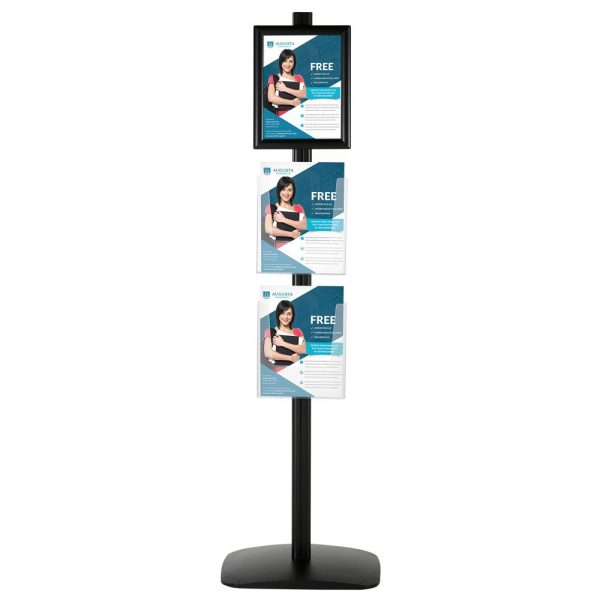 With 1 x (8.5X11) Frame In Portrait And Landscape And  2 x (8.5x11) Clear Pocket Shelf