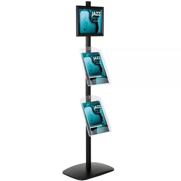 free-standing-stand-in-black-color-with-1-x-8.5X11-frame-in-portrait-and-landscape-and-2-x-8.5x11-clear-shelf-in-acrylic-single-sided-4