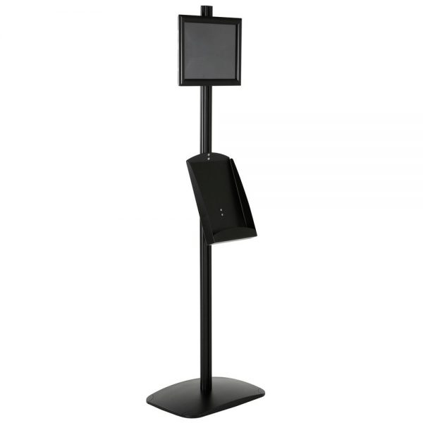 free-standing-stand-in-black-color-with-1-x-8.5x11-frame-in-portrait-and-landscape-and-1-x-8.5x11-steel-shelf-single-sided-15