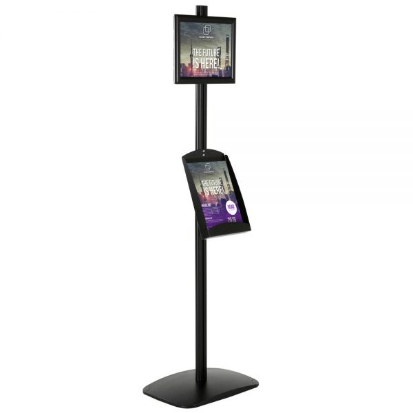 With 1 x (8.5x11) Frame In Portrait And Landscape And 1 x (8.5x11) steel Shelf