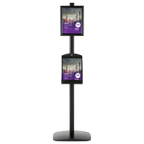 free-standing-stand-in-black-color-with-1-x-8.5x11-frame-in-portrait-and-landscape-and-1-x-8.5x11-steel-shelf-single-sided-4