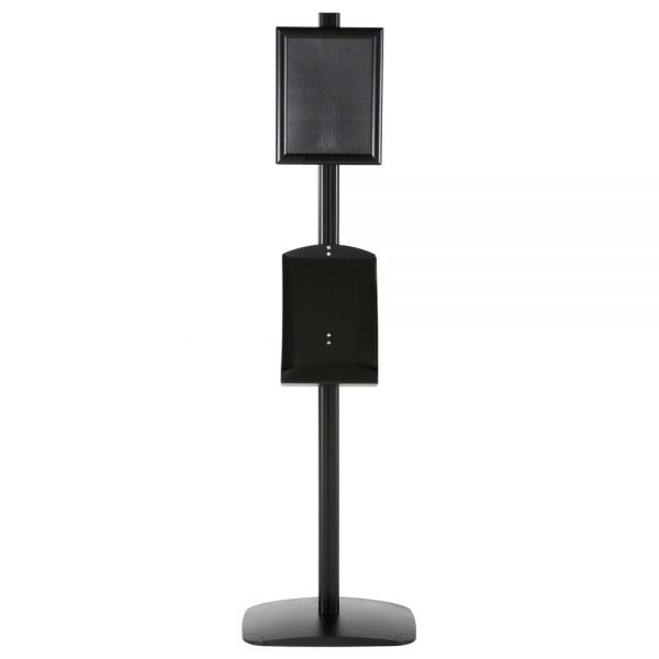 free-standing-stand-in-black-color-with-1-x-8.5x11-frame-in-portrait-and-landscape-and-1-x-8.5x11-steel-shelf-single-sided-5
