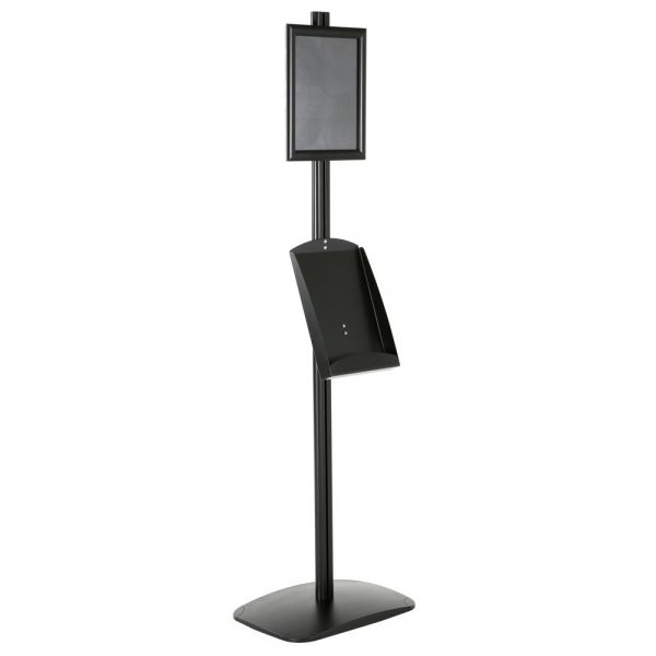 free-standing-stand-in-black-color-with-1-x-8.5x11-frame-in-portrait-and-landscape-and-1-x-8.5x11-steel-shelf-single-sided-6