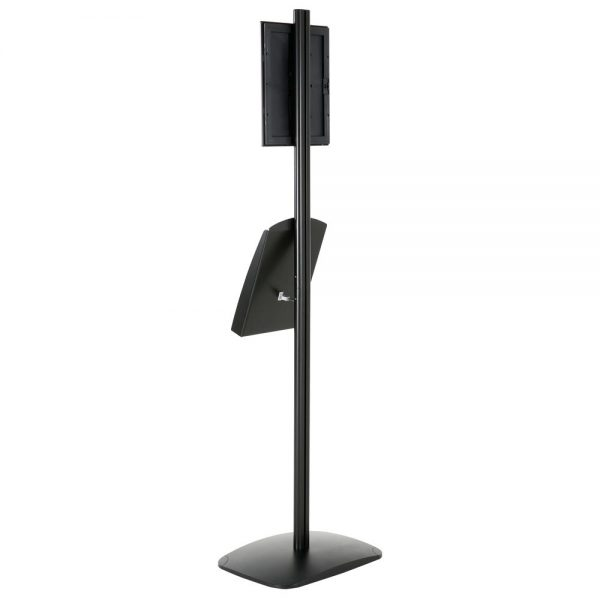 free-standing-stand-in-black-color-with-1-x-8.5x11-frame-in-portrait-and-landscape-and-1-x-8.5x11-steel-shelf-single-sided-7