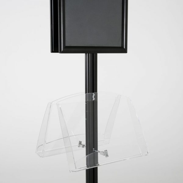free-standing-stand-in-black-color-with-2-x-11X17-frame-in-portrait-and-landscape-and-2-2-x-8.5x11-clear-shelf-in-acrylic-double-sided-12