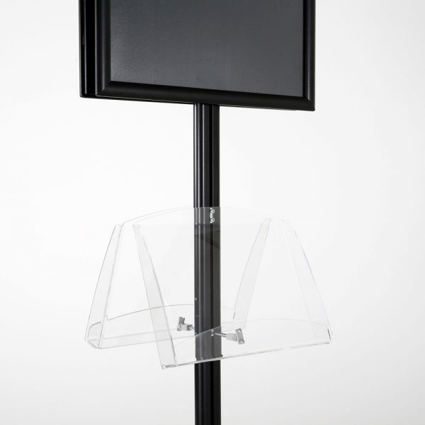 free-standing-stand-in-black-color-with-2-x-11X17-frame-in-portrait-and-landscape-and-2-2-x-8.5x11-clear-shelf-in-acrylic-double-sided-8