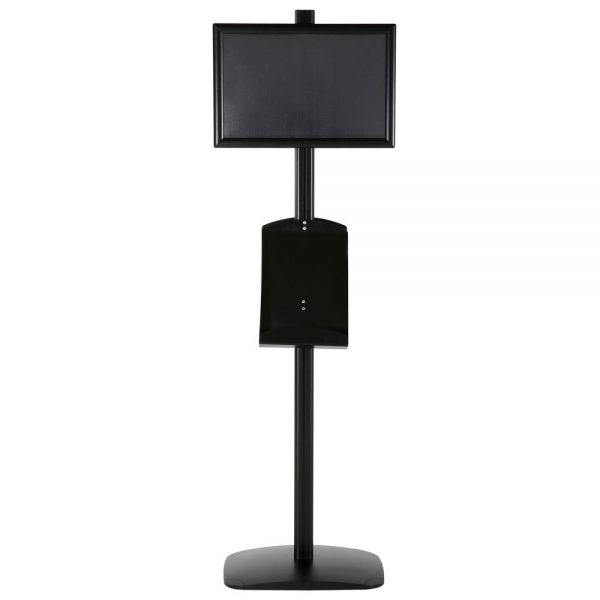 free-standing-stand-in-black-color-with-2-x-11X17-frame-in-portrait-and-landscape-and-2-x-8.5x11-steel-shelf-double-sided-10