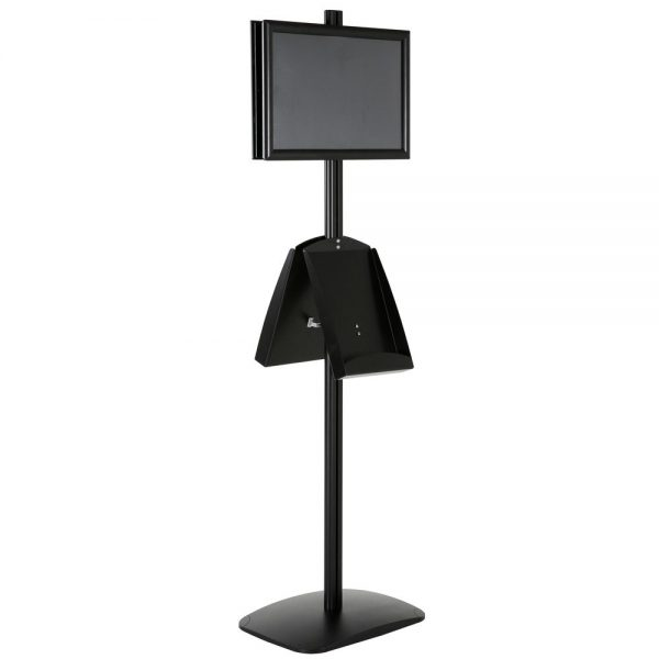 free-standing-stand-in-black-color-with-2-x-11X17-frame-in-portrait-and-landscape-and-2-x-8.5x11-steel-shelf-double-sided-14