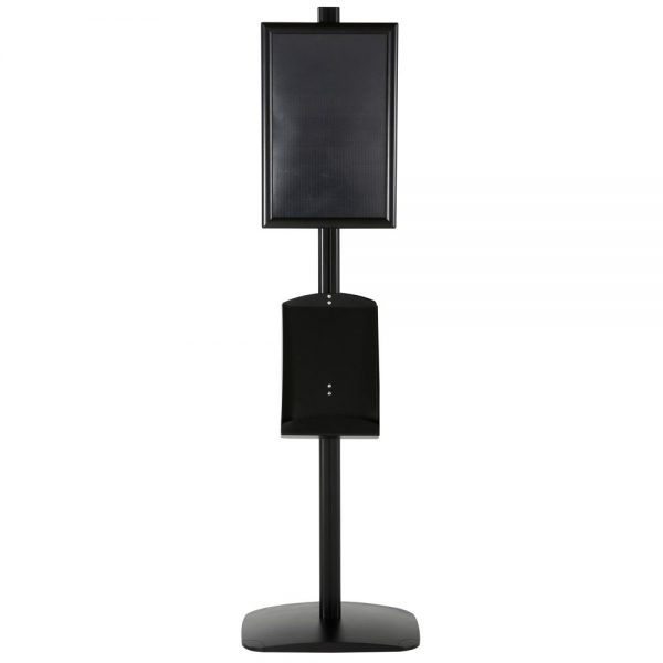 free-standing-stand-in-black-color-with-2-x-11X17-frame-in-portrait-and-landscape-and-2-x-8.5x11-steel-shelf-double-sided-5