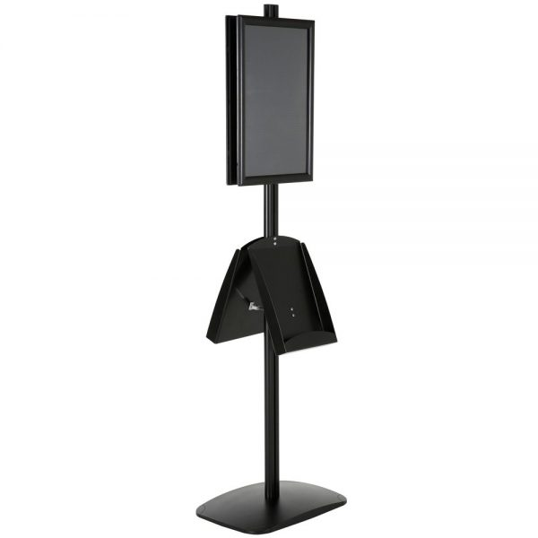 free-standing-stand-in-black-color-with-2-x-11X17-frame-in-portrait-and-landscape-and-2-x-8.5x11-steel-shelf-double-sided-6