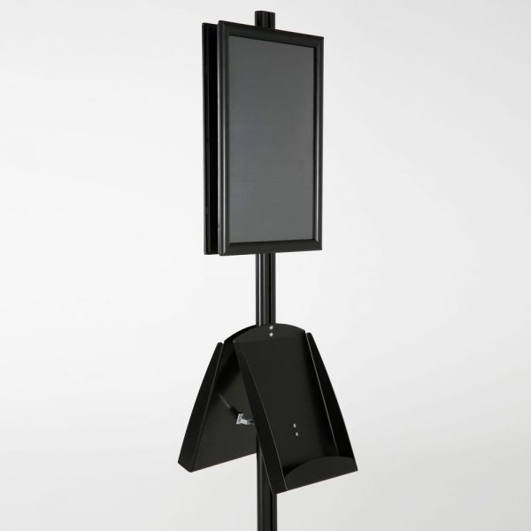 free-standing-stand-in-black-color-with-2-x-11X17-frame-in-portrait-and-landscape-and-2-x-8.5x11-steel-shelf-double-sided-7
