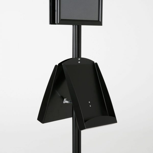 free-standing-stand-in-black-color-with-2-x-11X17-frame-in-portrait-and-landscape-and-2-x-8.5x11-steel-shelf-double-sided-8