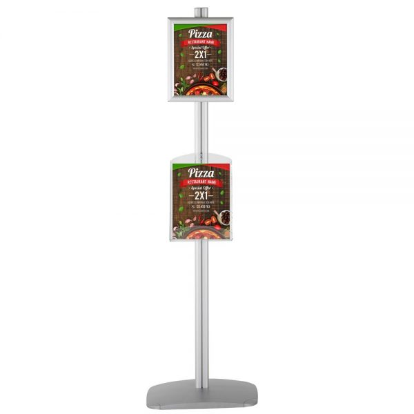 Free Standing Stand In Silver Color