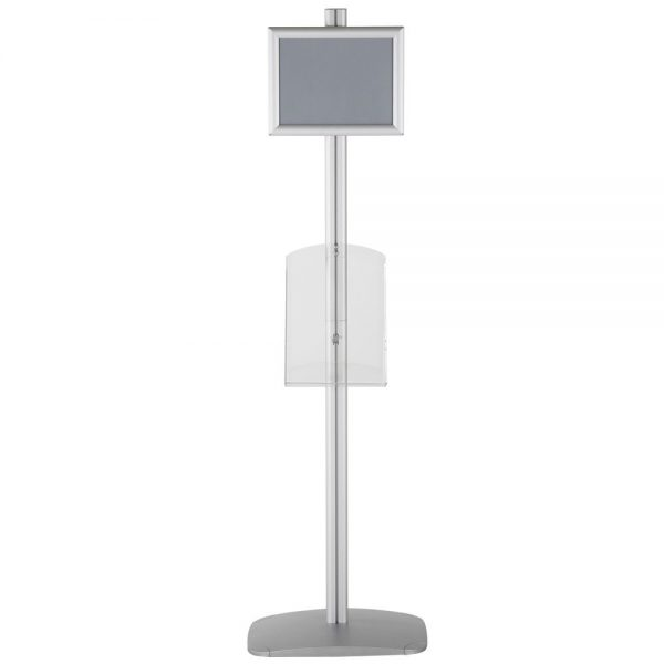 free-standing-stand-in-silver-color-with-1-x-8.5x11-frame-in-portrait-and-landscape-and-1-x-8.5x11-clear-shelf-in-acrylic-single-sided-14