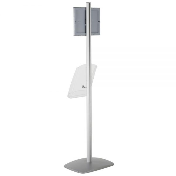 free-standing-stand-in-silver-color-with-1-x-8.5x11-frame-in-portrait-and-landscape-and-1-x-8.5x11-clear-shelf-in-acrylic-single-sided-15