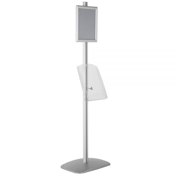 free-standing-stand-in-silver-color-with-1-x-8.5x11-frame-in-portrait-and-landscape-and-1-x-8.5x11-clear-shelf-in-acrylic-single-sided-5