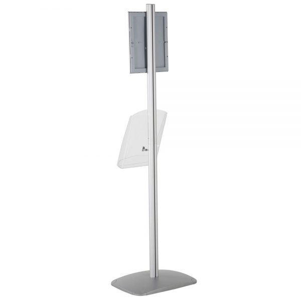 free-standing-stand-in-silver-color-with-1-x-8.5x11-frame-in-portrait-and-landscape-and-1-x-8.5x11-clear-shelf-in-acrylic-single-sided-7