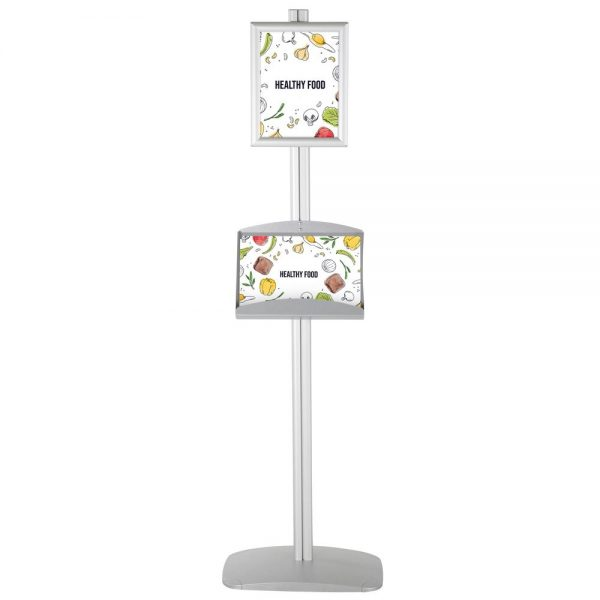 With 1 x (8.5x11) Frame In Portrait And Landscape And 2 x (5.5x8.5) Steel Shelf
