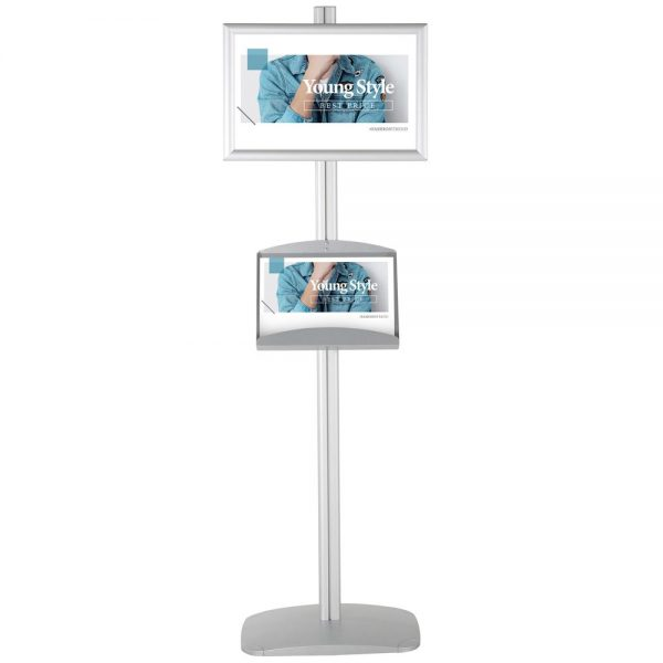 With 2 x (11X17) Frame In Portrait And Landscape And (2)  2 x (5.58.5) Steel Shelf