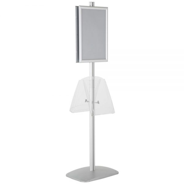 free-standing-stand-in-silver-color-with-2-x-11X17-frame-in-portrait-and-landscape-and-2-x-8.5x11-clear-shelf-in-acrylic-double-sided-13