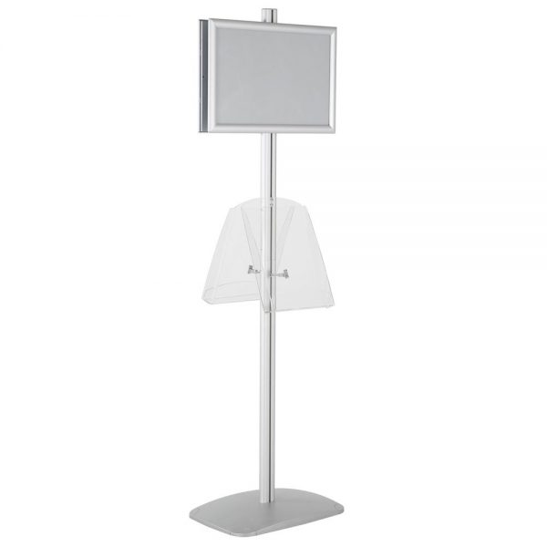 free-standing-stand-in-silver-color-with-2-x-11X17-frame-in-portrait-and-landscape-and-2-x-8.5x11-clear-shelf-in-acrylic-double-sided-6