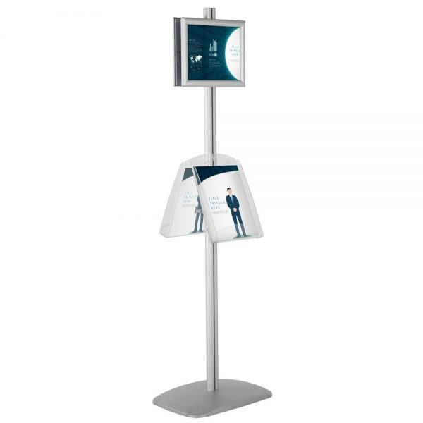free-standing-stand-in-silver-color-with-2-x-8.5x11-frame-in-portrait-and-landscape-and-2-x-8.5x11-clear-shelf-in-acrylic-double-sided-4
