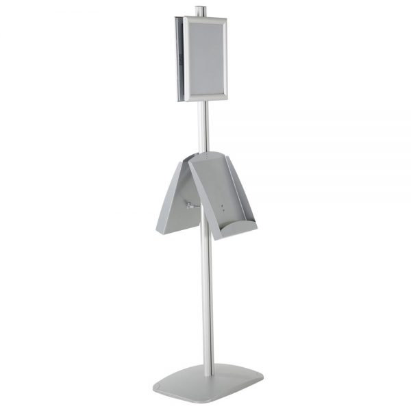 free-standing-stand-in-silver-color-with-2-x-8.5x11-frame-in-portrait-and-landscape-and-2-x-8.5x11-steel-shelf-double-sided-5