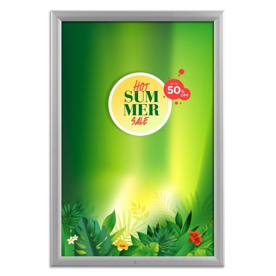 20x30-lockable-weatherproof-snap-poster-frame-1-38-inch-silver-mitred-profile