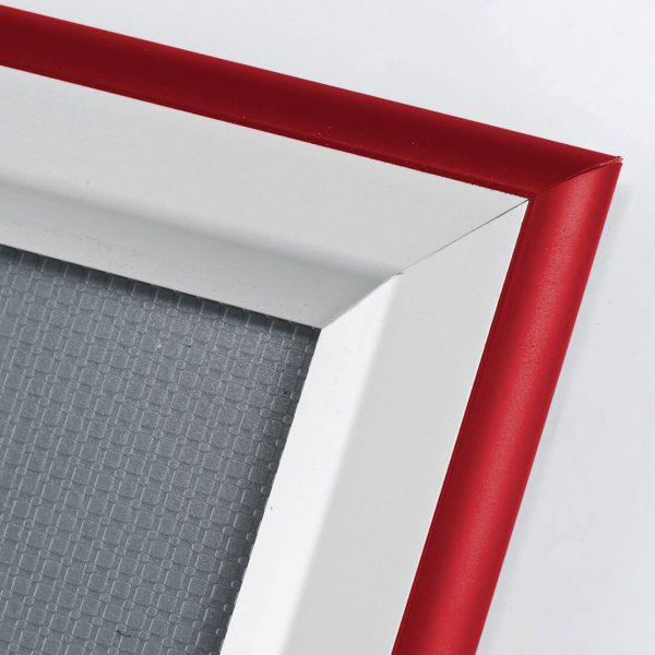 double-color-snap-poster-frame-1-58-inch-red-silver-color-mitred-profile
