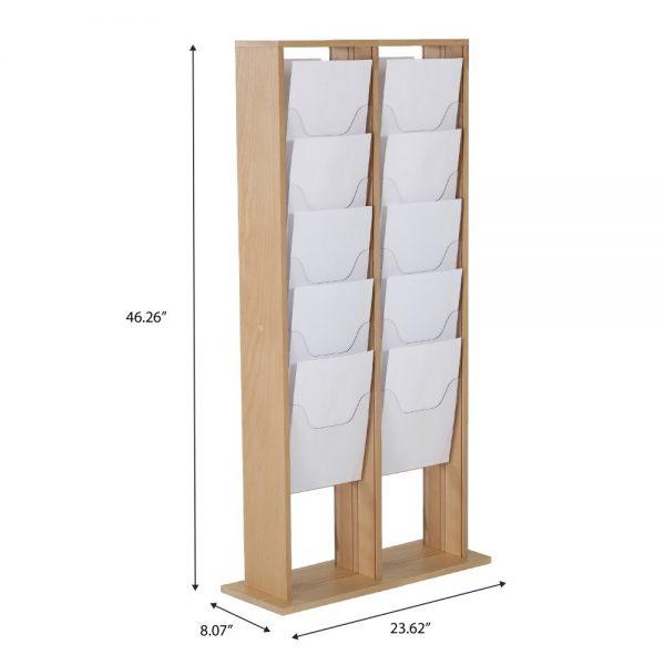 20xa4-wood-magazine-rack-natural-standing (4)