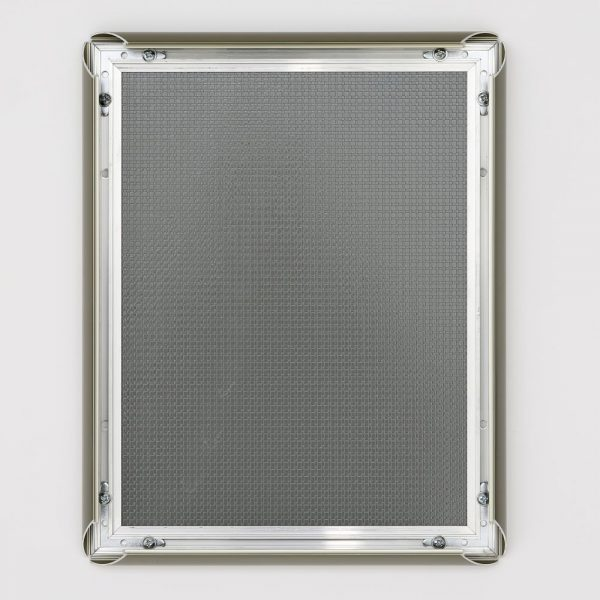 8.5x11 Snap Poster Frame - 1 inch Stainless Steel Look Effect Profile Mitered Corner