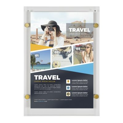 22x28-wall-mount-clear-acrylic-sign-holder-frame-chrome-gold (1)