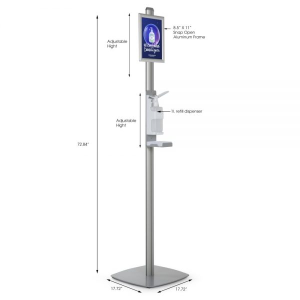 free-standing-sanitizer-dispenser-1000-ml-33-8-oz-without-gel-with-8-5x11-inch-opti-snap-framedrip-tray (2)